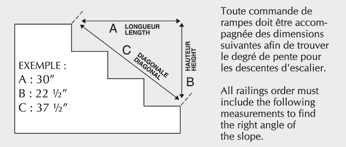 Escalier d 39 ext rieur colima on aluminium soud balcons - Comment mesurer un escalier ...